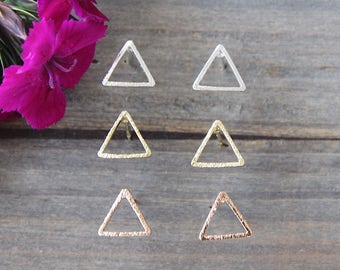 Open Triangle Earrings