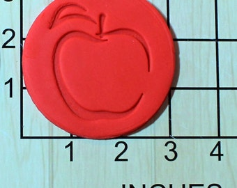 Apple Fondant Cookie Cutter AND Stamp #1612