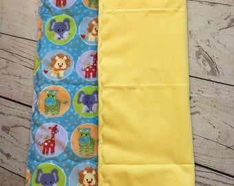 Baby Changing Pad,Travel Change Mat,Animal Print,Gender Neutral,Waterproof Changing Pad,Diaper Change,Baby Gift,Diaper Bag,Yellow Pad