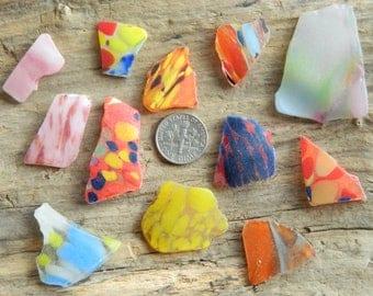 Genuine beach found sea glass multi's for crafts
