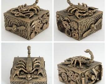 Steampunk jewelry box scorpion