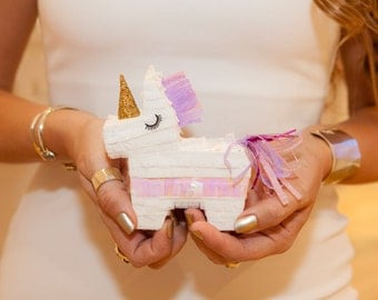 Mini Unicorn Pinata (3), Unicorn Pinata, Unicorn Party Favor, Unicorn Baby Shower, Unicorn Birthday Party, Princess Party, Unicorn Wedding