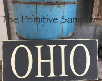 Ohio Sign, State Sign, 5x12 Sign