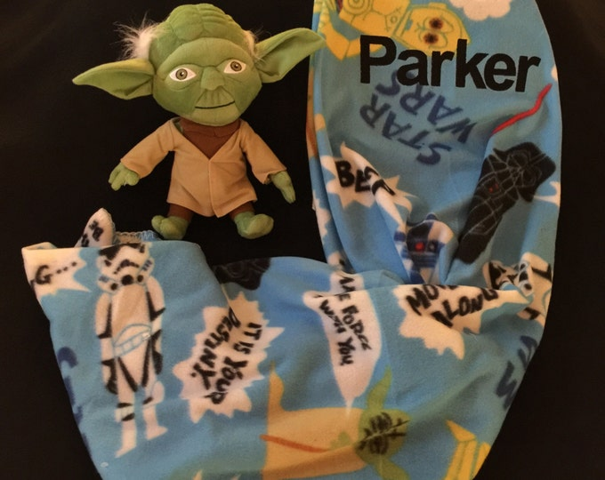 Star Wars YODA Blanket Hugger Pillow & Throw Set - Personalized