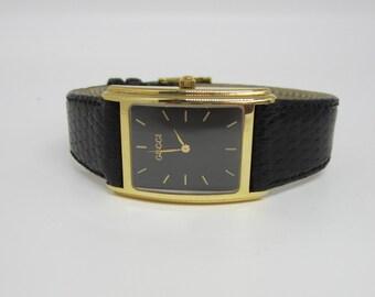Gucci Watch, Genuine Gucci 14k Gold Watch, Mens Watch, Ladies Watch