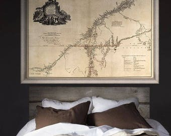 "Map of Quebec 1777, Old Quebec map in 4 sizes up to 54x36"" (140x90cm) vintage map of Province of Quebec, Canada - Limited Edition of 100"