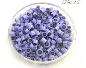 "Handmade Murrini Chips ""Lila"" COE104 pale purple, lilac Lampwork Supplies Millefiori Murrine glass chips for Beadmaker"
