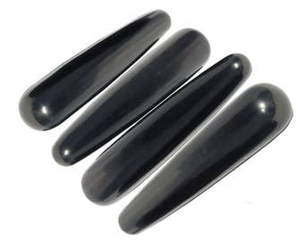 Black Obsidian Yoni Wands, GIA Certified, Crystal Dildo, Yoni Wands, Crystal Sex Toys, Shakti Wand, Large Dildo