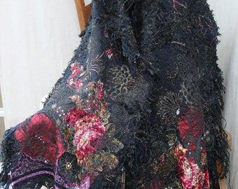 SONIA SCARF, SHAWL,scarf, wrap. unique, artsy, ready to ship