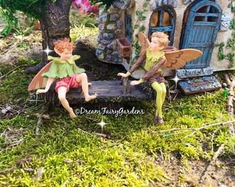 Fairy garden teeter totter, Miniature playset, fairy garden see saw, miniature playground, fairy accessories