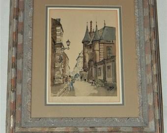 Vintage French Artwork, Vintage French Hotel Artwork