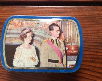 Vintage Blue Tobacco tin