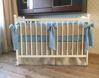 Baby boy nursery bedding set /// Crib bedding, Nursery bedding, Cot bedding