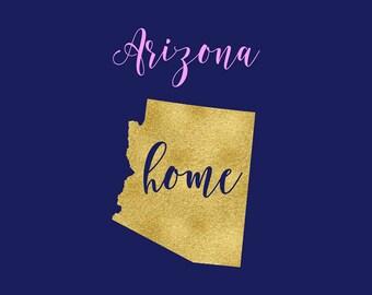 Arizona SVG, Arizona Love SVG Clipart, Cutting Files, Home Sweet Home, Arizona Vector Clipart, Silhouette, Cricut Explore, BUY5FOR7