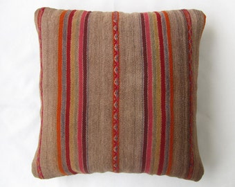Cover of Pillow ethnic, Peru, pillow Peruvian to stripes, cushion colors Earth, ochre, article retrieved. (18 by 18 inches.) (45 by 45 cm) CR-235