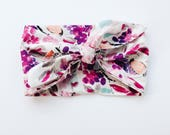 Birds and Flowers Pinks and Raspberry Floral Headwrap/Headband - One Size Fits All
