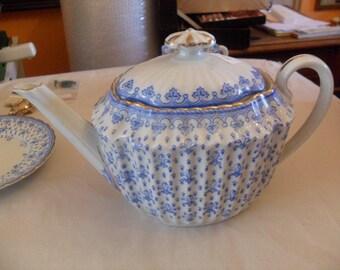 Schaller & co large teapot 20s, Fleur de Lys