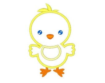 Baby Chick Machine Applique Design