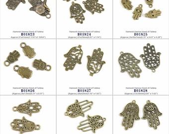 Jewelry Making Charms Pendant Hamesh Hamsa Hand of Fatima Findings Jewellery Beading Crafting Supply Supplies