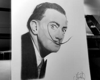 Salvador Dali Pencil Drawing