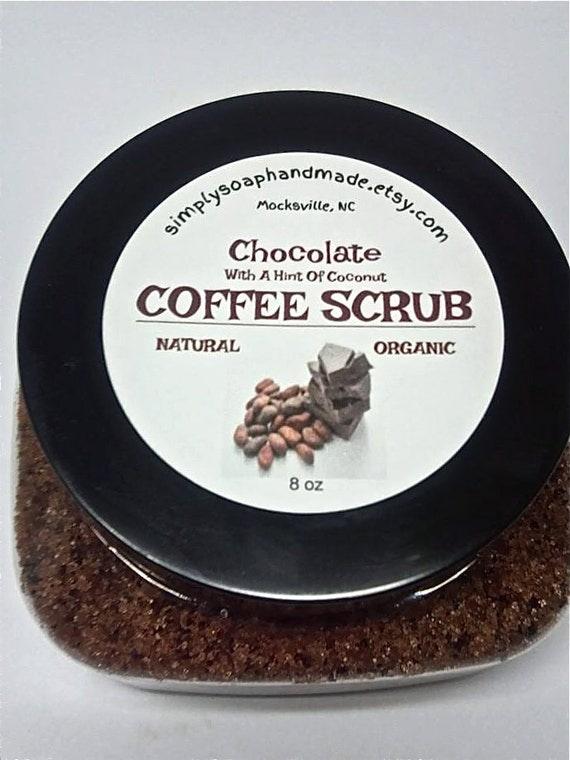 Sugar Scrub,Coffee Scrub,Natural Sugar Scrub,Chocolate Sugar Scrub,4 oz Scrub,2 oz Scrub,Chocolate Coffee Sugar Scrubs,Organic Sugar Scrub