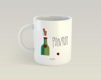 Mug - Drunk - Cup ceramic, gift