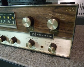 Fisher 550T - Vintage 1966 Stereo Receiver - 35 x 2 Watts Per Channel - Serviced & Reconditioned - Excellent Condition