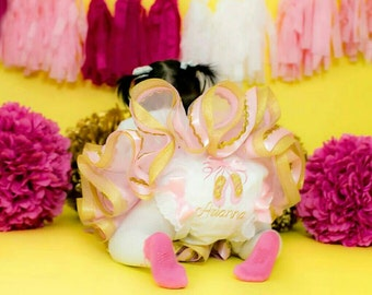 Baby diaper Cover-Baby Bloomer-Birthday set-photoprop-custom baby bloomer-KRISHAIR BOWTIK