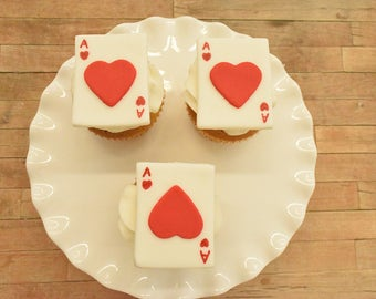 Playing Card cupcake toppers