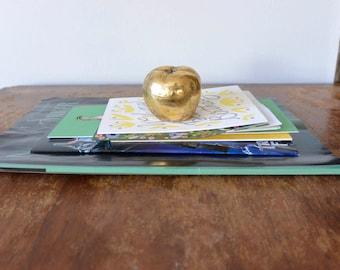 Brass Apple Paper Weight