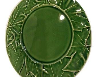 Bordallo Penheiro Maple Leaf Majolica Plate