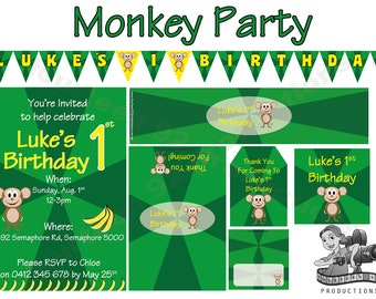 Monkey Birthday Decorations