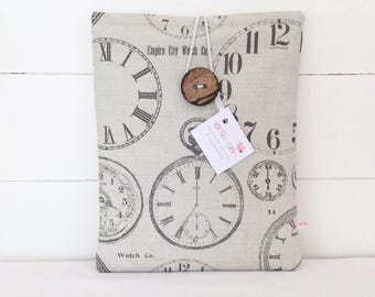 Vintage Clocks iPad Cover, iPad Cover, iPad Case, Tablet Cover
