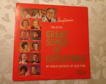 HENRY MANCINI Selects Great Songs of Christmas Vintage Record Album 1975, RCA Presented by Goodyear, Christmas Carols