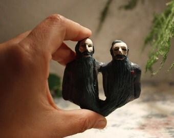 Bearded Mr. Sculpture of porcelain.