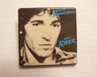Vintage Early 80s Bruce Springsteen - The River Album (1980) Promotional Pin / Button / Badge