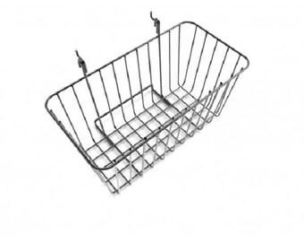12 x 6 Wire Rectangular Basket for Gridwall or Slatwall - Black119076