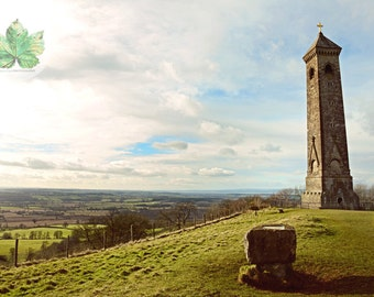 Tyndale Monument A4 photography print Gloucestershire Nibley Landscape