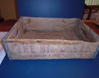 Royal Crown Cola Crate.  vintage soda crate.  Soda crate