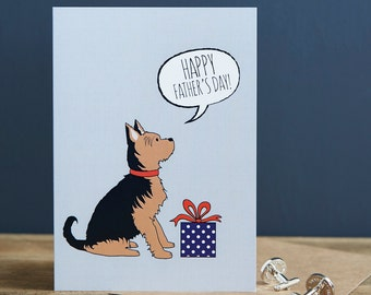 Yokshire Terrier Father's Day card