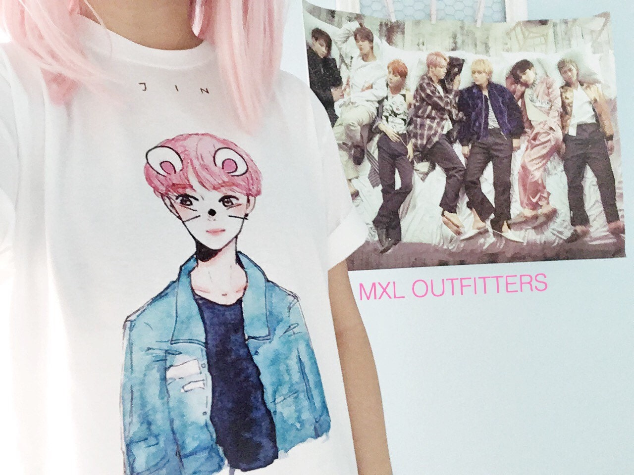 Bts Watercolor Mouse Jin T Shirt 169 Design By Yoomint