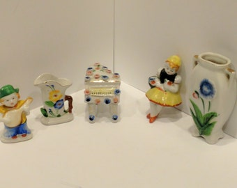 5 Piece Set of Made in Occupied Japan Figurines