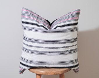 Large Ethnic Hmong Hemp Fabric Textile Pillow Cover