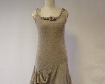 Feminine natural linen dress, M size.