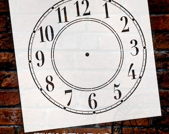DIY Clock - Schoolhouse Clock Stencil - Select Size - STCL179 - by StudioR12