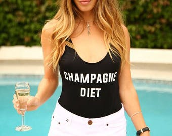 Champagne Diet Swimsuit!