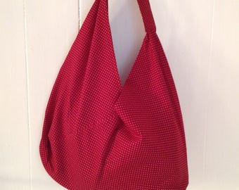 Origami bag canvas tote bag with large volume, fits into any handbag,