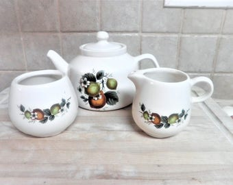 Vintage MCcoy Teaset with fruit design