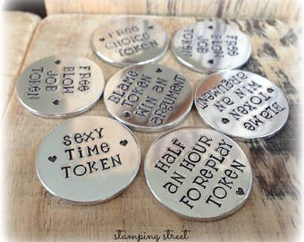 Love Tokens, Boyfriend Gift, Gifts for Groom, Gifts for Valentines Day, Gifts for Husband, From Wife, Wedding Day Gifts, Rude Gifts, Funny