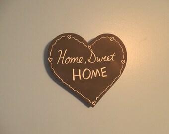 "8"" x 9"" Blank Chalkboard Sign - Heart Sign - Chalkboard Decor - Home Sweet Home - Wedding Chalkboard - Home Sweet Home - Housewarming Gift"